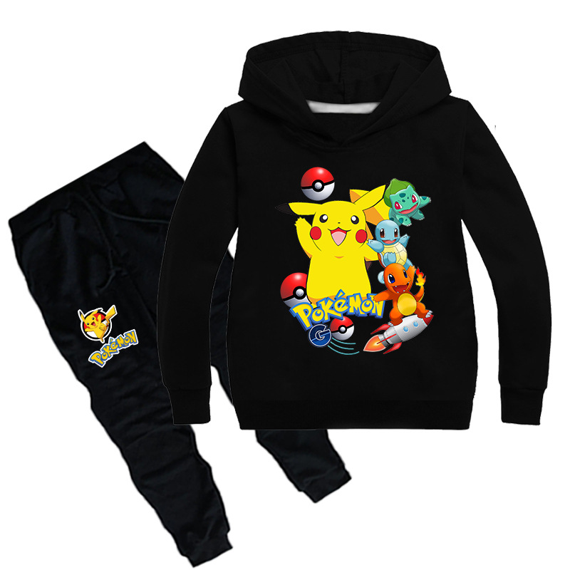 Outfits Sports-Suit Teenagers Pokemon Clothes-Sets Baby-Girls Boys Kids Children Cartoon