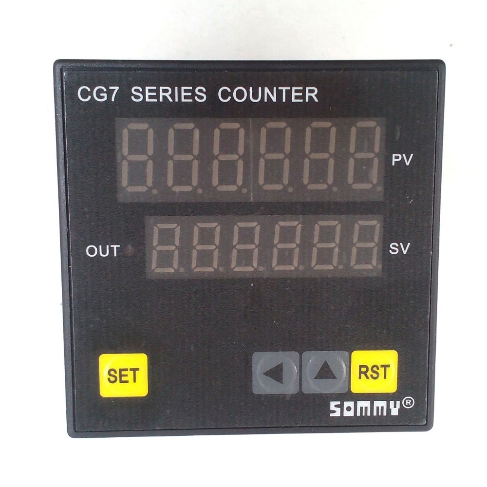 CG7-RB60 digital couters Multi-function Counter 6-digit counting relay output  цены