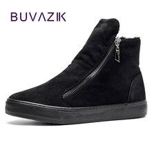 2017 new arrival women snow boots side zipper female winter cotton shoes warm non-slip sole flock outdoor footwear