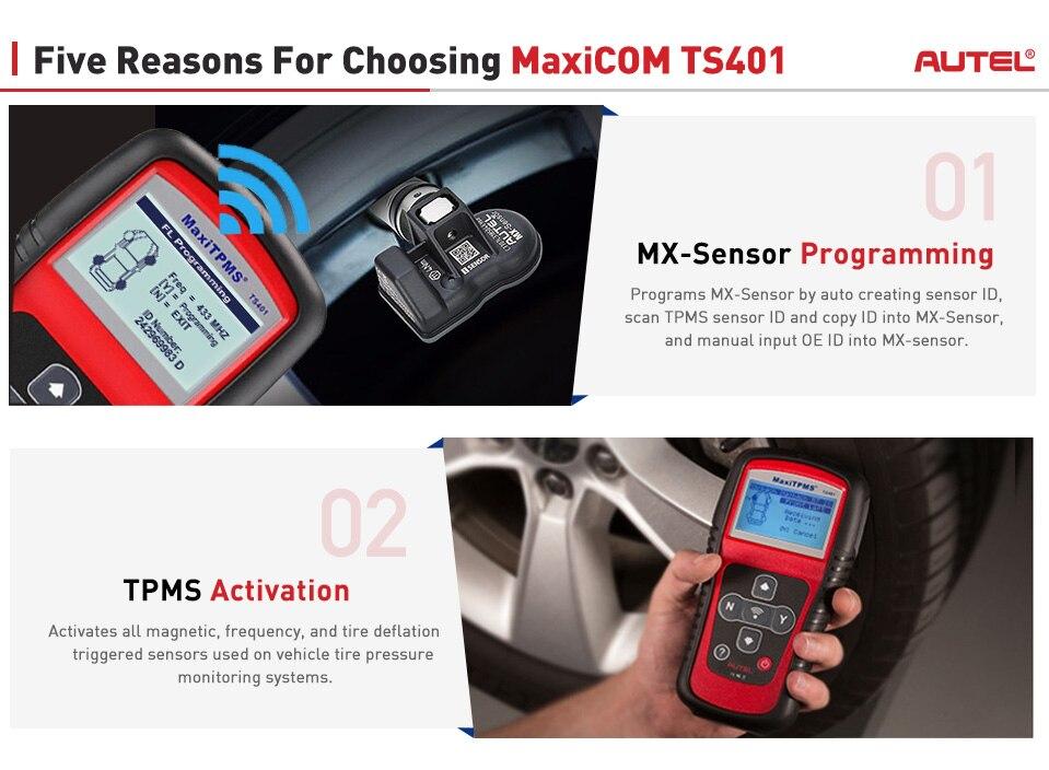 Image 3 - Autel Maxitpms TS401 TPMS Diagnostic Tool Receive 315mhz 433mhz Sensor Signals Tyre Pressure Tester Activate Relearn Sensor Tool on