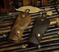 2016 súper ventas de calidad superior del cuero genuino marrón Vintage caja dominante del coche de la cadena cadena de la cubierta de herramientas titular de la cartera
