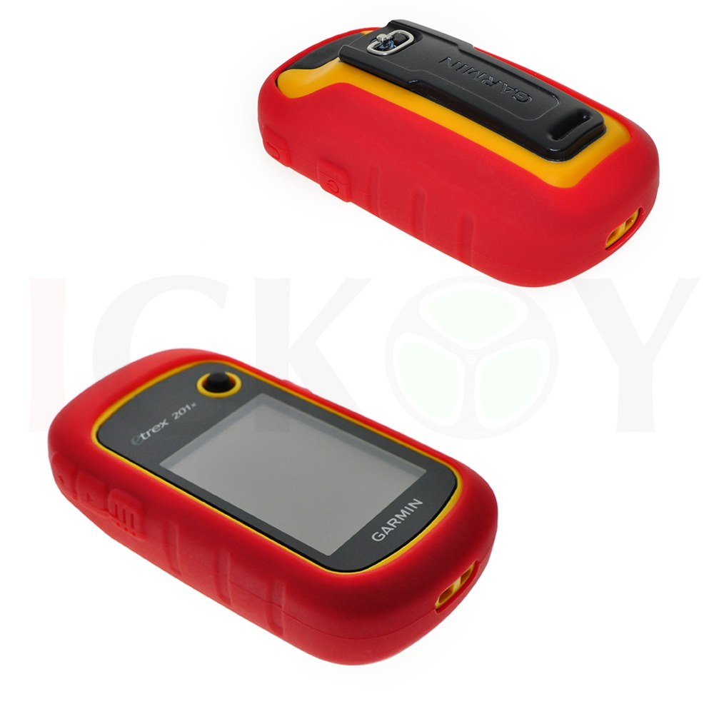 Outdoor Hiking Handheld font b GPS b font Protect Red Silicon Rubber Case Skin for Garmin