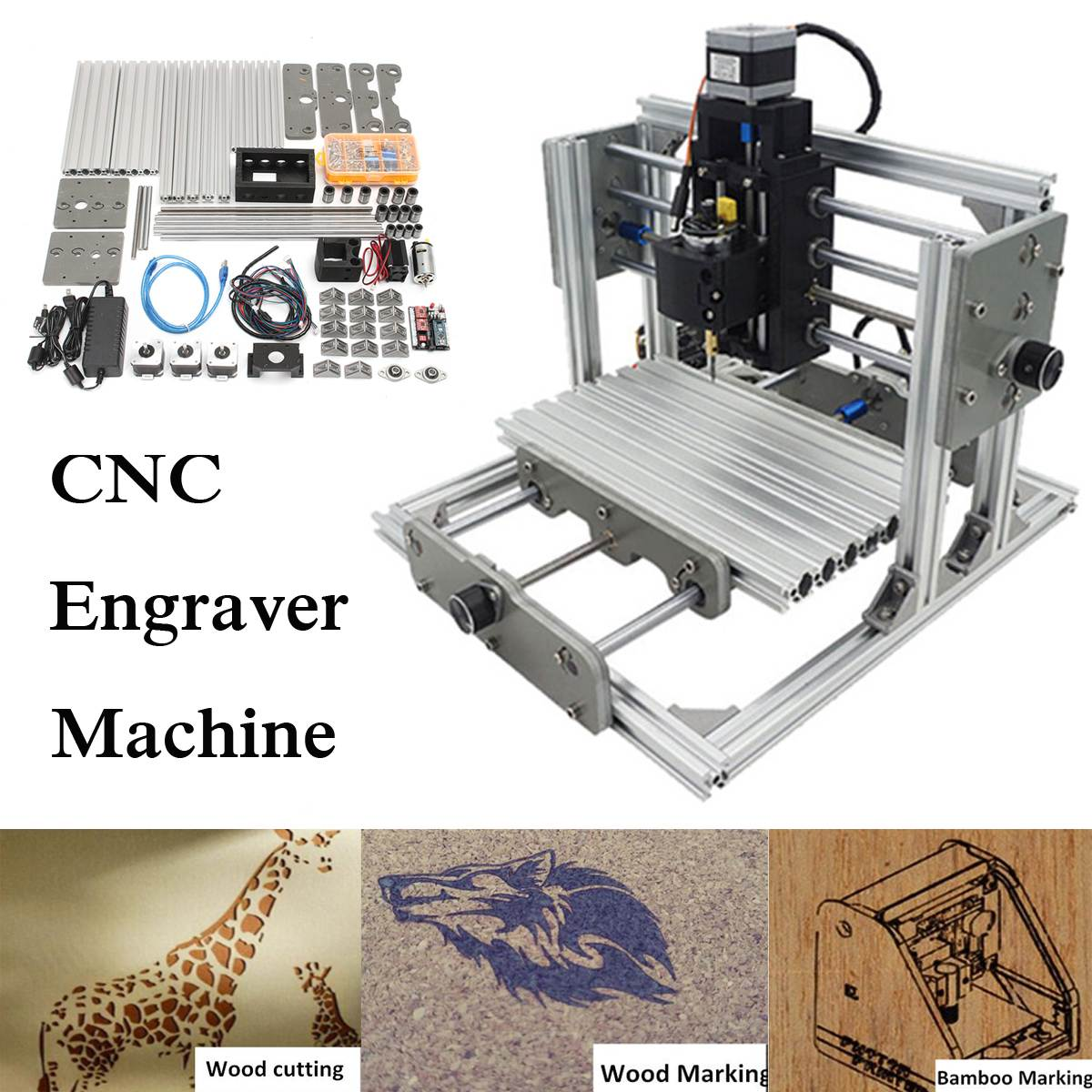 3 Axis 2500MW Mini DIY Desktop CNC Laser Engraver Engraving Machine DC 12V Milling Carving Cutter Wood Router 0.04MM+ T8 Screws 2016 new pcb milling machine cnc 2020b diy cnc wood carving machine mini engraving machine