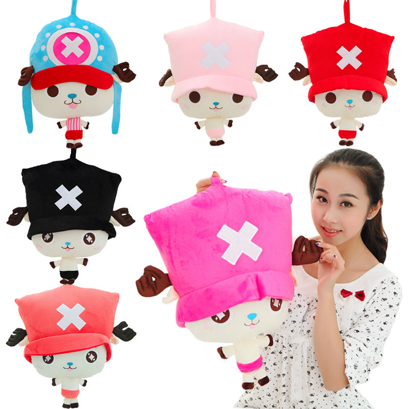1pcs 52cm one piece Japanese anime plush doll Tony Chopper pillow plush toy cartoon factory supply free shipping free shipping new japanese anime one piece pvc figure toy umbrella strawhat luffy tony tony chopper model doll 10pcs set