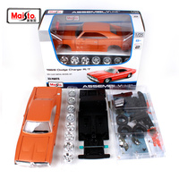 Maisto 1:24 1969 DODGE Charger R/T Assembly DIY Diecast Model Car Toy New In Box Free Shipping 39256