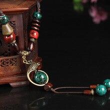 Классическое медное ожерелье феникса для женщин, керамическая длинная веревочная цепочка, этнические Винтажные Ювелирные изделия, Новое поступление