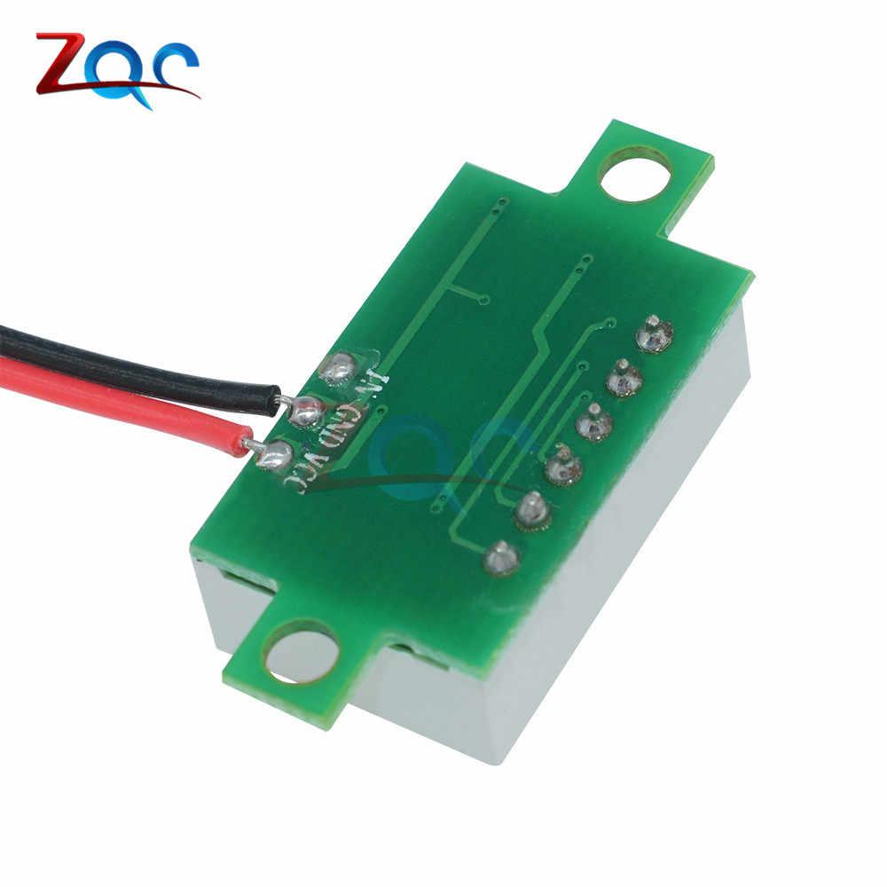 0,36 дюймов DC 4,7-32 в 2 провода мини-разряд дисплей Вольтметр мини светодиодная цифровая Панель Вольт измеритель напряжения инструмент автомобиля 12 В 24 В