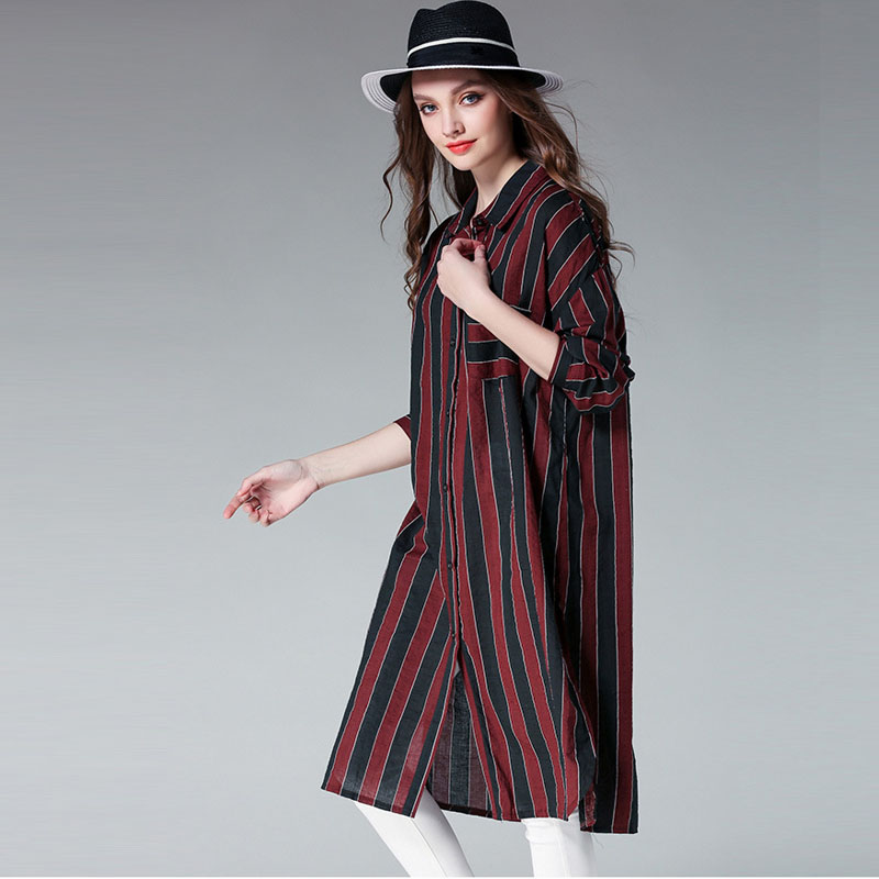2017 clothes for pregnant women long sleeve turn down collar striped XL-4XL pregnancy Maternity dresses  for photo shoot Summer sweet turn down neck long sleeve spliced maternity dress for women