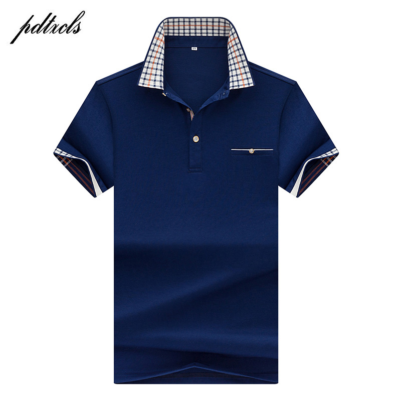 HOT High Quality Tops&Tees Men's Polo Shirts Business Men Brands Polo Shirts 3D Embroidery Turn-down Collar Mens Polo Shirt 7177