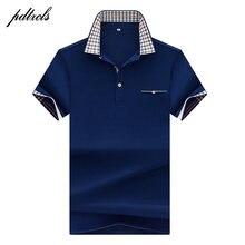 Quente de alta qualidade topos & t camisas polo masculinas marcas de negócios camisas polo 3d bordado turn-down colarinho dos homens camisa polo 7177