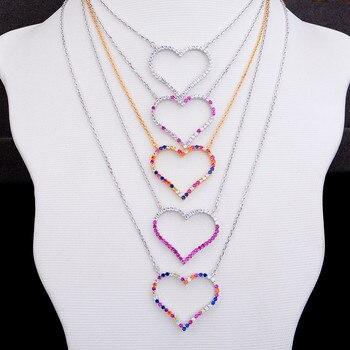 Подарок на день матери, Модное изящное ожерелье-чокер, персонализированное сердце, гибкое ожерелье, ювелирные изделия для женщин, подарок д...