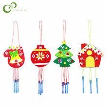 キッズ子供diyクリスマス風が風成鐘チャイム知育玩具クラフトキットクリスマス装飾diy風が風成鐘チャイムgyh