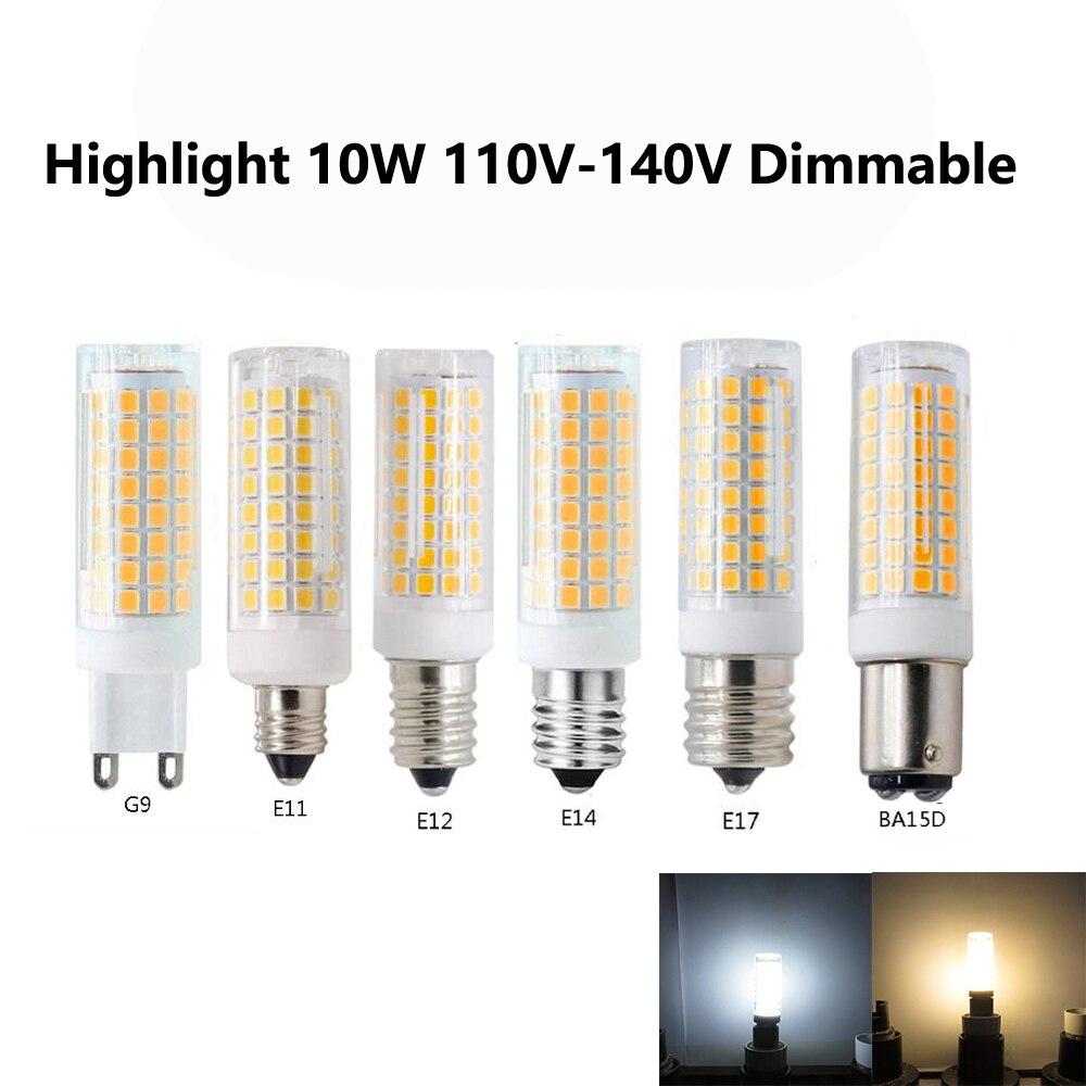 Lampadine G9 Led 100w.Us 3 5 Highlight Led Ceramic Bulb Mini Corn Ac110v 120v Dimmable G9 E11 E12 E14 E17 Ba15d Energy Saving 10w Replace 100w Halogen Lamp In Led Bulbs