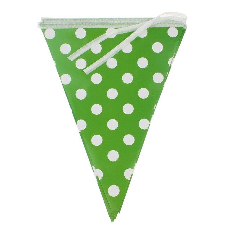 10 unids/set Dot caída banderas triangulares del Festival de la boda ...