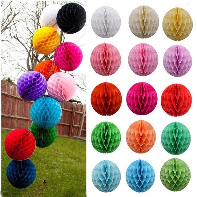 1 Pza panal bola de papel linternas bola fiesta de boda niños cumpleaños fiesta Festival Baby Show decoración suministros