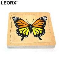 Cute Cartoon Butterfly Growing Wooden Puzzle Intelligence Kids Educational Baby Toys Gift Brain Teaser Children Jigsaw