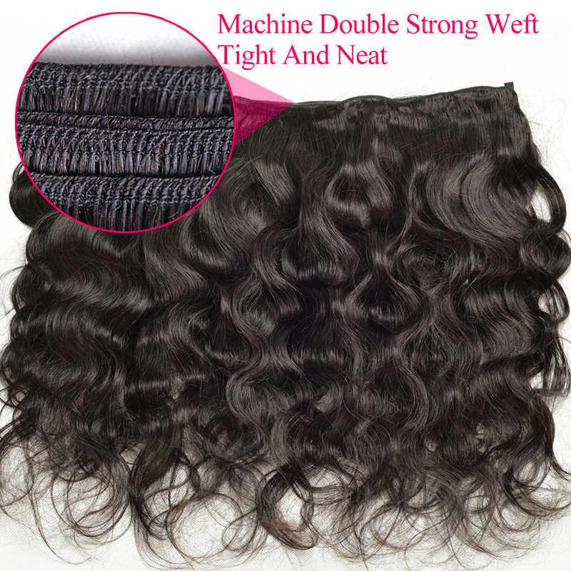 Yavida индийские волосы пучки волнистых волос естественного цвета 100% человеческие волосы переплетения пучки не Реми наращивание волос 1/3 шт