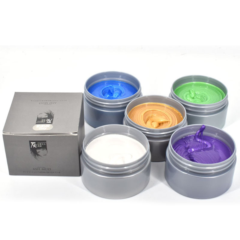 7 Farbe Temporäre Haarfärbemittel Creme DIY Oma Grau Haar farbe Wachs Schlamm Harajuku Stil Haarfärbemittel Modellierung Mode Styling Tool2