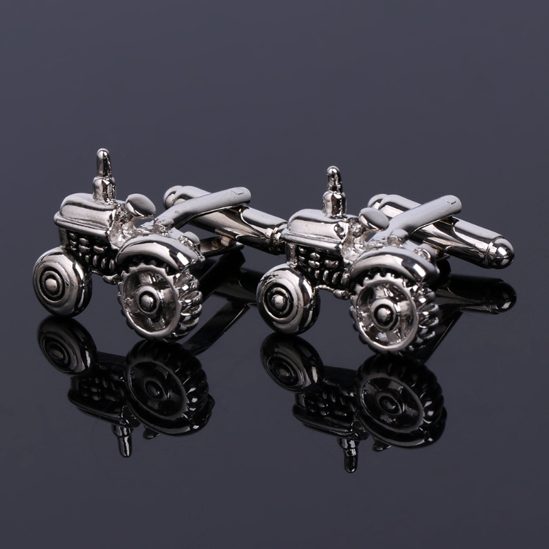 Fashion Novelty Tractor Shaped Cufflinks Classic Wedding Party Business Christmas Gift Shirt Cuff Links New