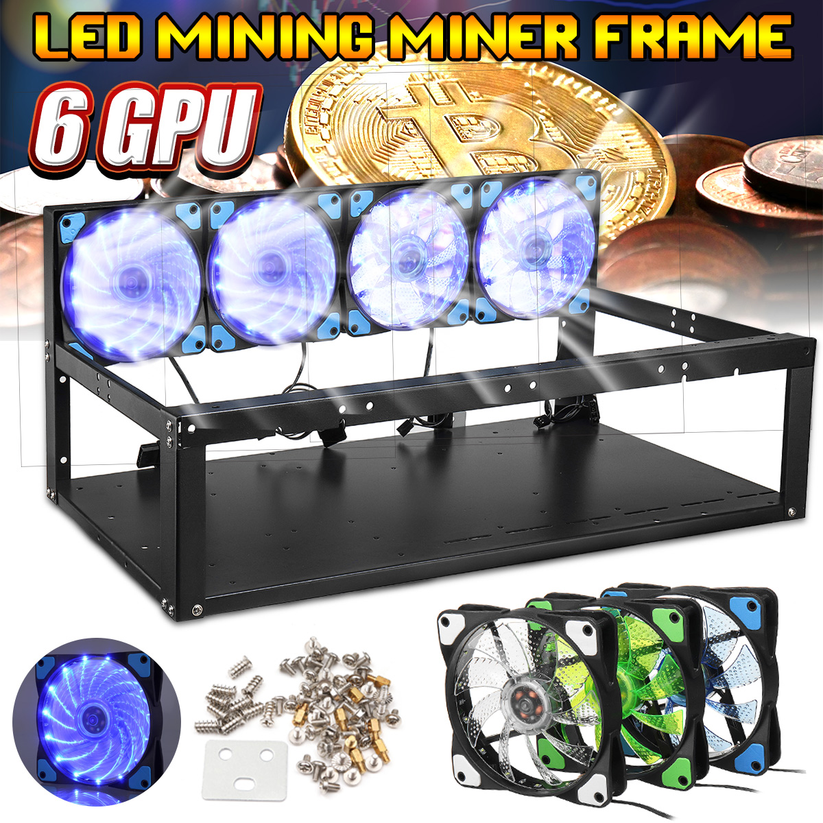 All kinds of cheap motor 4 gpu mining case in All B
