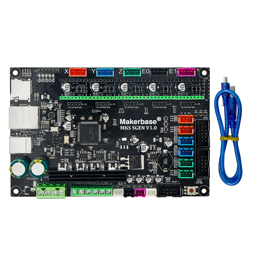 MKS SGen 32bit controller board which runs smoothieware firmware and supports A4988 DRV8825 LV8729 TMC2208 TMC2100