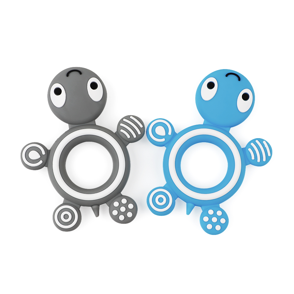 TYRY.HU Silicone Turtle Teethers Baby Nursing Toys Food Grade Silicone Teether Toddler Toys