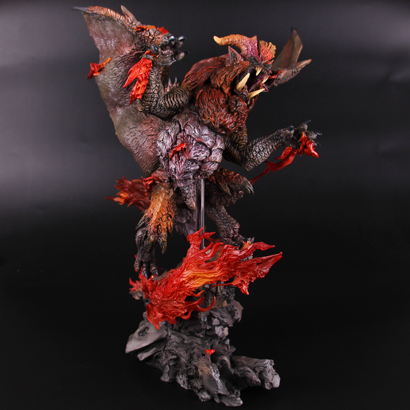 CAPCOM Monster Hunter XX World Yan Wanglong Teostra Teo Dicastor Action Figure Collection Decoration Kids Toy