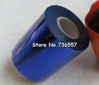 80mmx120M Blue Color Hot Stamping Foil Heat Transfer Napkin Gilding PVC Business Card Emboss