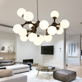 Postmodern LED chandeliers living room suspended lamps restaurant  luminaires Nordic lighting fixtures bedroom hanging lights