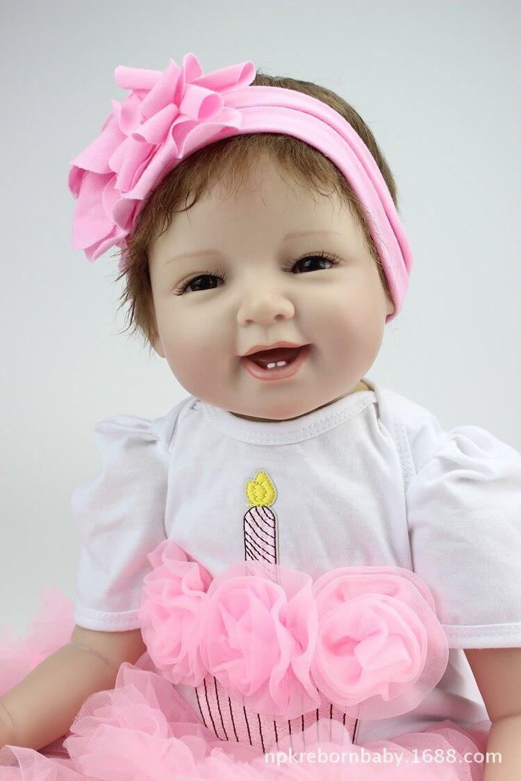 Кукла реборн NPK, 22 дюйма, мягкие силиконовые куклы Реборн, 55 см, милая кукла-младенец, реалистичные игрушки для новорожденных