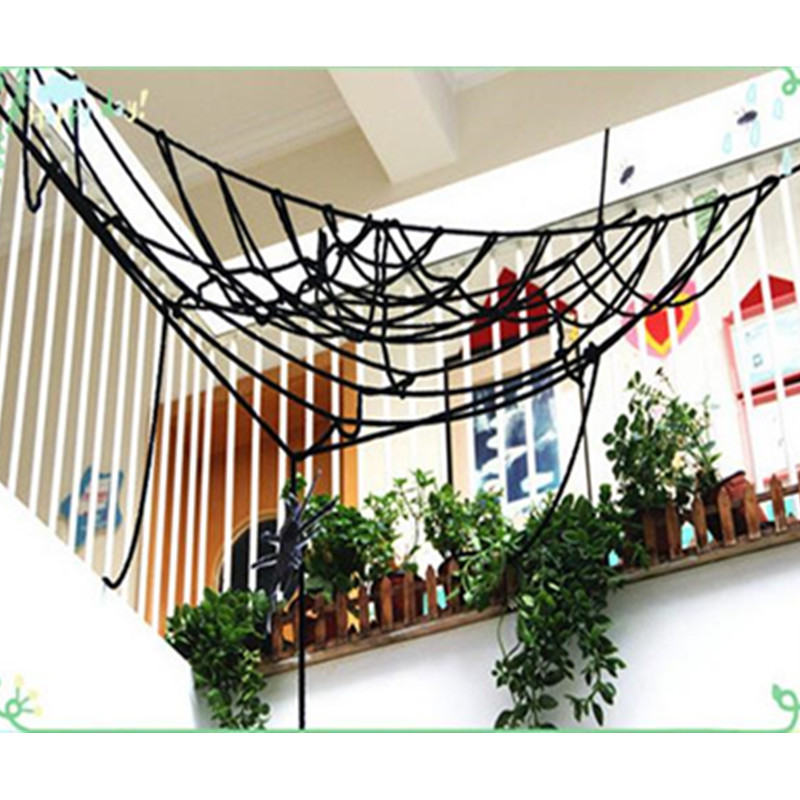 Novelty & Special Use Amiable Hot New Funny Stretchable Plastic Spider Web Decoration For Halloween House Decorated Props Horror Spider Silk Costumes & Accessories