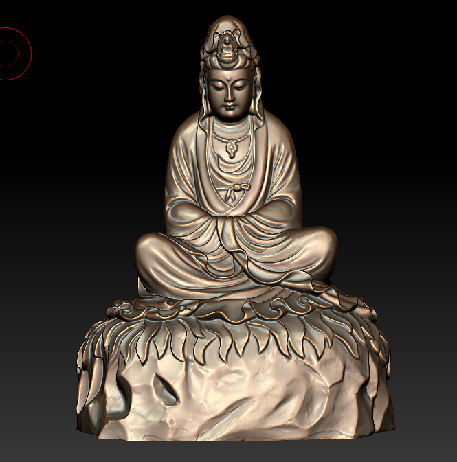 3d Model Relief For Cnc In STL File Format Avalokitesvara Sank In Thought