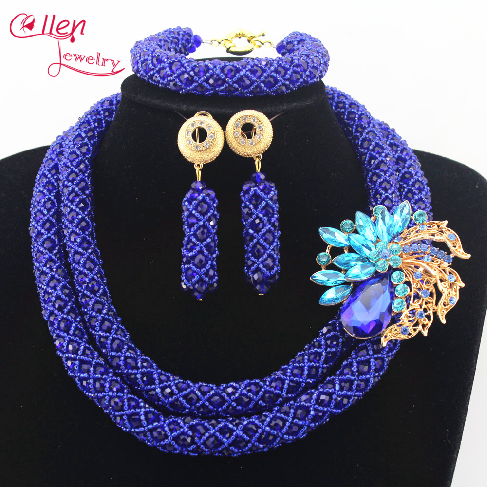 Ellen Jewelry Nigerian Wedding bridal African Beads Jewelry Set Handmade Dubai Bridal Bracelet Earrings Necklace Sets N0030Ellen Jewelry Nigerian Wedding bridal African Beads Jewelry Set Handmade Dubai Bridal Bracelet Earrings Necklace Sets N0030