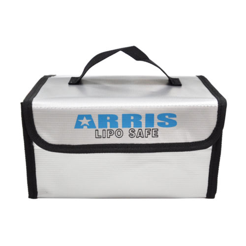 ARRIS Fire Retardant LiPo Battery Portable Safety Fireproof Case Bag Handbag Box 215*155*115mm For RC Drones FPV Quadcopter realacc fire retardant lipo battery bag 220x155x115mm with handle