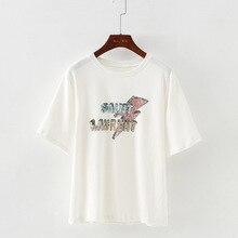Harajuku Style Short-sleeved T-shirt Female Bottoming Shirt Fun Pizza Printing Large Size Loose Explosion