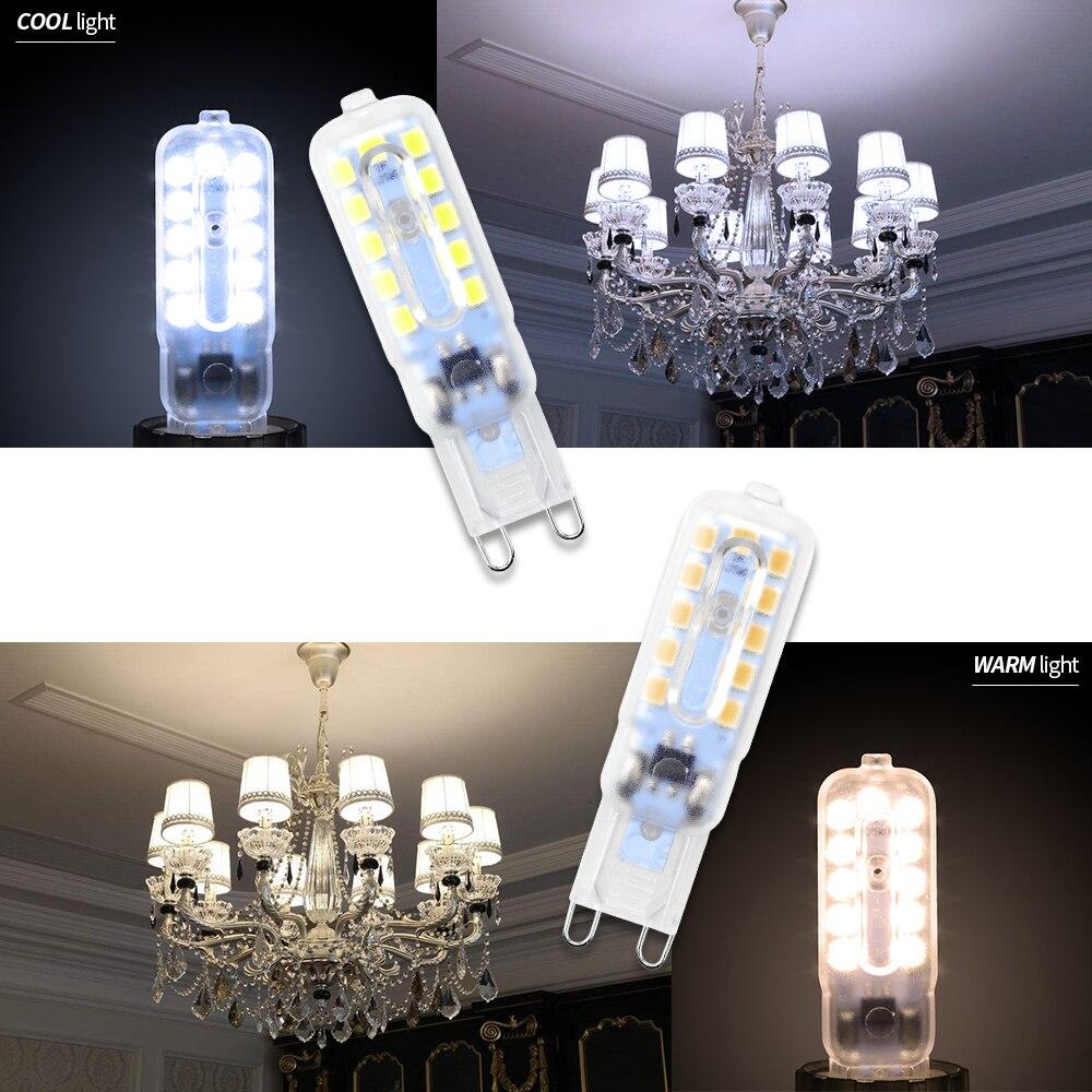 8PCS G9 Mini LED Bulb 5W Corn Bulb 3W Lampada g9 LED 220V Light 2835 SMD Spotlight For Chandelier Replace Halogen LED Lamp 240V in LED Bulbs Tubes from Lights Lighting
