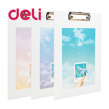 Folder Board Clip Stationery Test-Paper Office-Supplies A4 Deli Plywood Writing Student