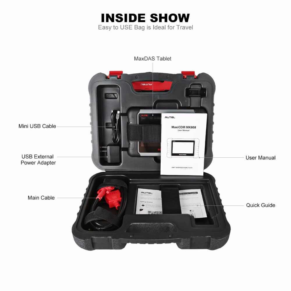 Autel Maxicom MK808 OBD2 Auto Diagnostic Tool Scanner Automotive Immo Epb Sas Bms Tpms Dpf Wifi Code Reader MX808 Auto accessoires
