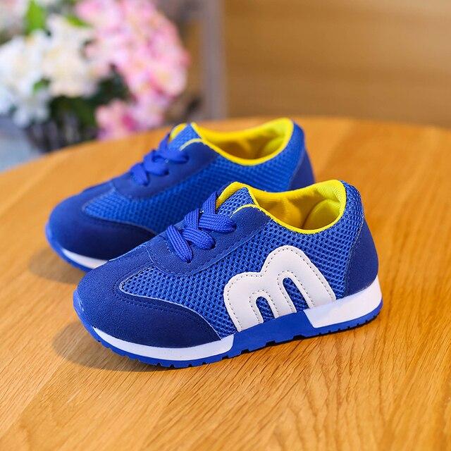 5adfe96cd Детская Обувь для мальчиков и девочек Повседневное спортивные Обувь Дети  дышащий Обувь для мальчиков Спортивная обувь