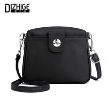 DIZHIGE Brand Luxury Waterproof Nylon Women Shoulder Bag High Quality Crossbody Bags For Solid Zipper Messenger New