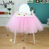 Розовая юбка-пачка для малышей фатиновые накидки для стульев, украшение для детского душа на день рождения, для стульев, для домашнего текст...