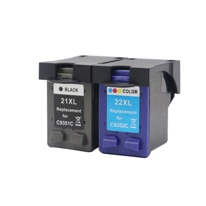 2pcs Compatible Ink <font><b>Cartridges</b></font> for <font><b>HP</b></font> <font><b>21</b></font> <font><b>22</b></font> Deskjet F2280 3910 3915 3918 3920 3930 3938 3940 D1530 D1311 printer For HP21 XL image