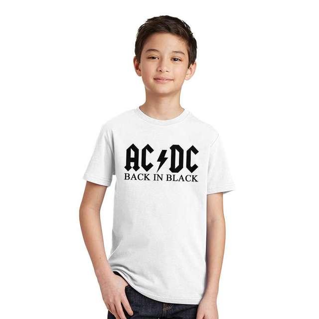 fd8ac6e1a0d11 2017 New Camisetas AC DC rock band T shirt Enfants acdc Graphique T ...