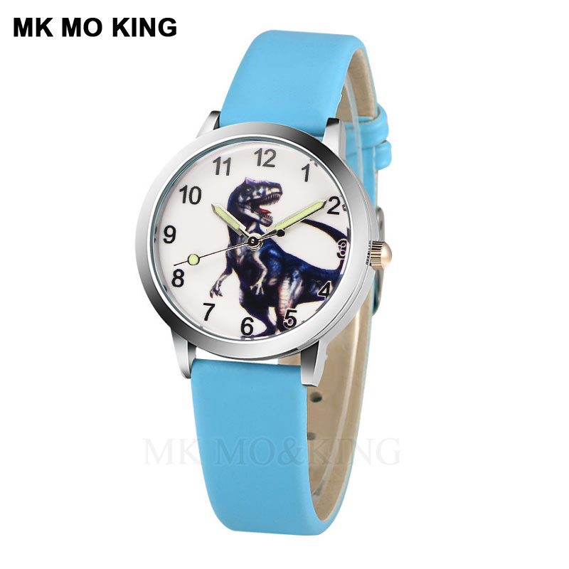 Luxury Brand Sport Dinosaur Cute Fossied Children's Boys Girls Kids Quartz Wrist Watch Clock Gifts Bracelet Synoked Micked New