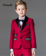 Custom Red Boys Formal Tuxedos Wedding Party Suits Kids Prom Suits Flower Suits toddler suits arrival kids tuxedos formal wedding page boy party prom suits