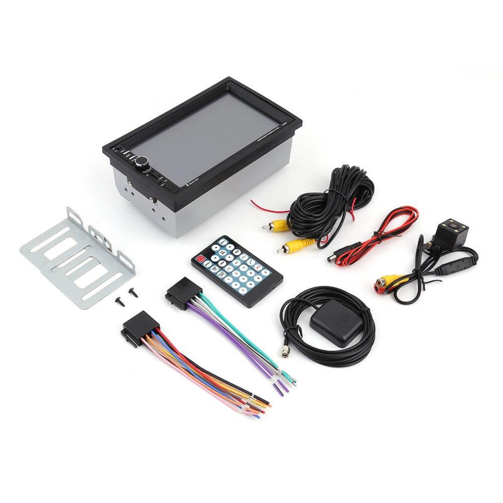 imágenes para Universal de 7 pulgadas Bluetooth Car Audio Estéreo Reproductor MP5 con la Cámara de Vista Trasera Pantalla Táctil de Navegación GPS con Función de FM y Control Remoto