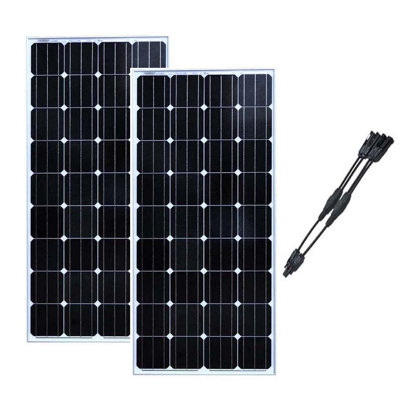 Панели солнечные 150 Вт 12 В 2 предмета Комплект солнечных батарей Solaire Pour La Maison 24 вольт Вт СВЕТОДИОДНЫЙ кемпинговый автомобилей Караван телефо