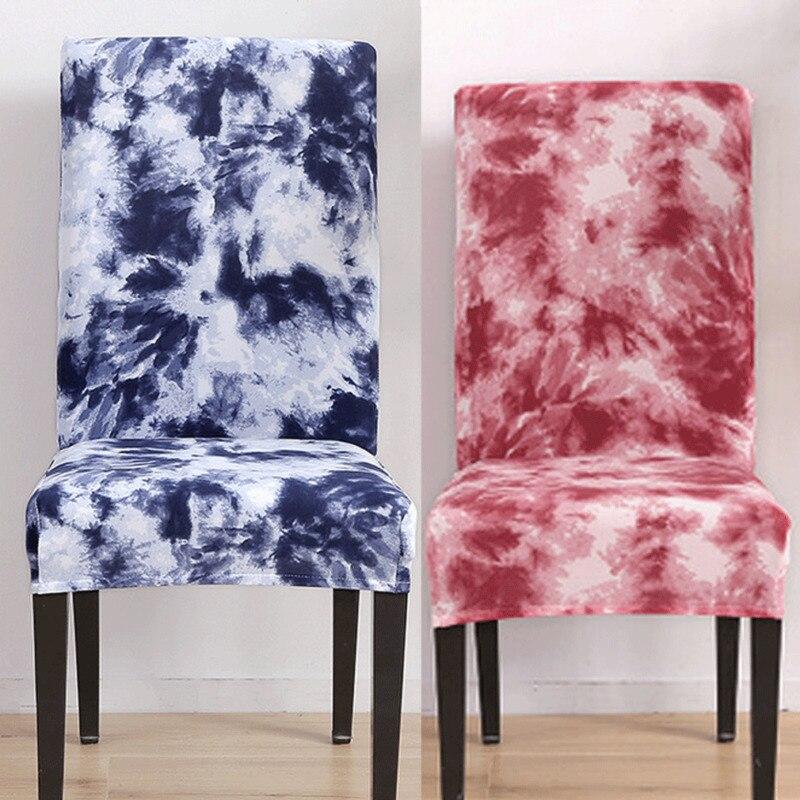 Тянущиеся чехлы на стул из спандекса Сменные чехлы на сиденья чехол для столовой чехол для кресла для дома Текстиль 2019 Новый