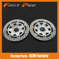 1 Pair Front Floating Brake Disc Rotor For HONDA CBR600F F4 CROSSRUNNER 800 VFR CBR900 F