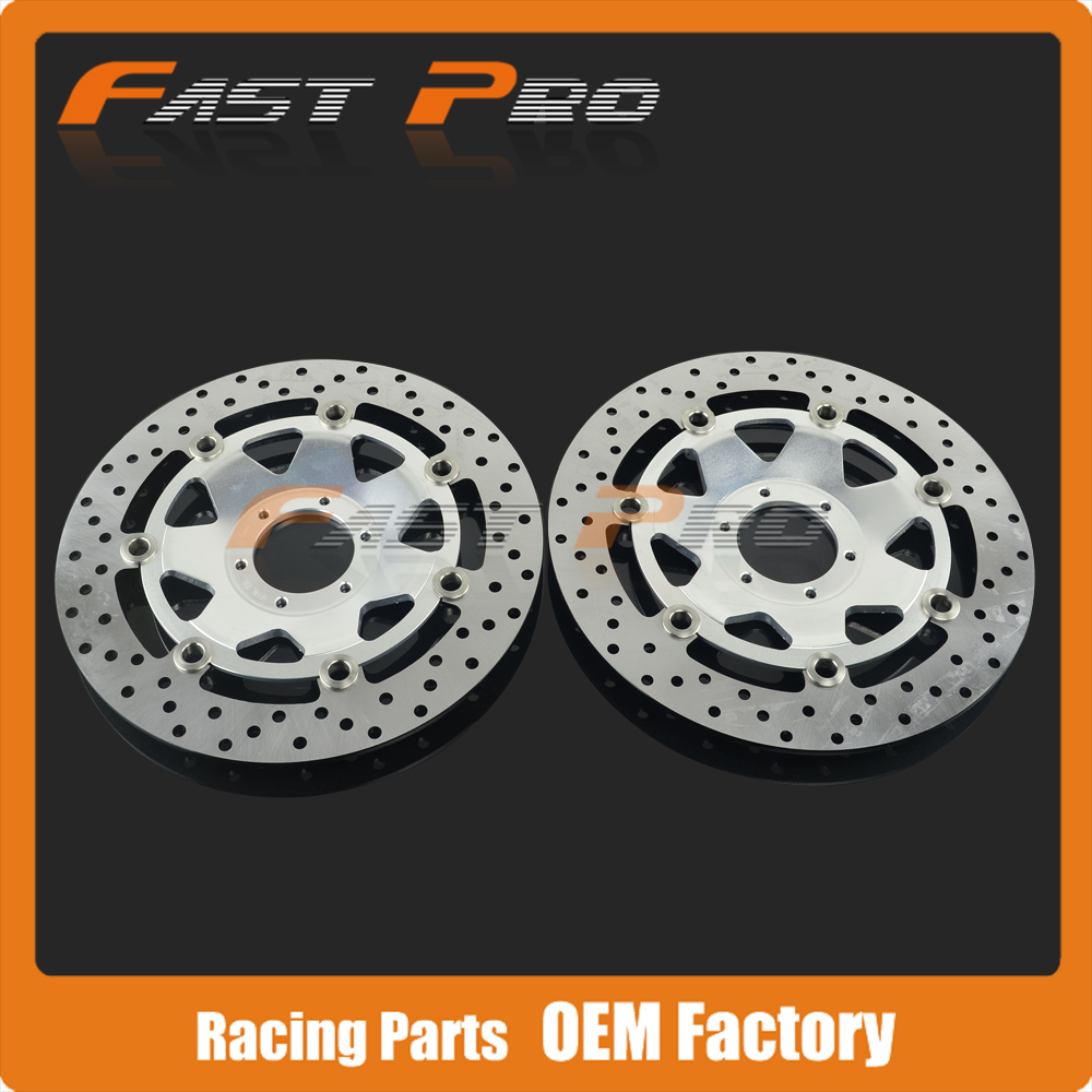 1 Pair Front Floating Brake Disc Rotor For HONDA CBR600F F4 CROSSRUNNER 800 VFR CBR900 F CBR900RR XL1000 GL1500 VFR800 keoghs motorcycle brake disc brake rotor floating 260mm 82mm diameter cnc for yamaha scooter bws cygnus front disc replace